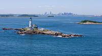 Boston Light with Boston in Background