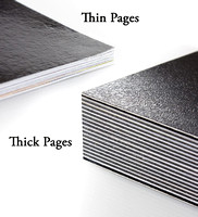 Thick Pages compared to most photobooks